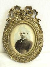 Ancien cadre photo de style LOUIS XVI en bronze doré