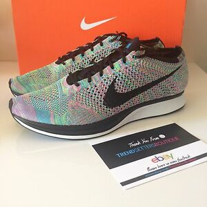 newest 438a6 00b12 Image is loading NIKE-FLYKNIT-RACER-US-13-UK-12-MULTICOLOR-