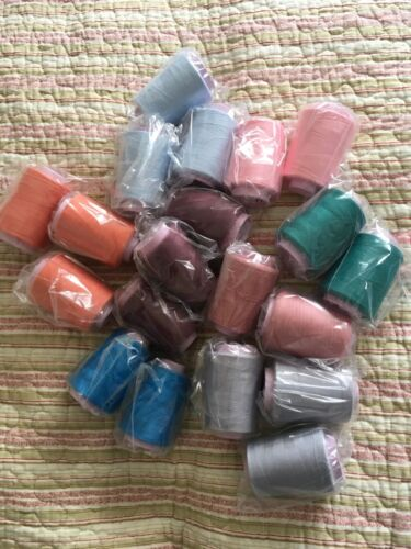 assorted colours. Oxelene core spun polyester 1000m x 20 cones