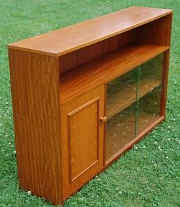 Merveilleux Image Is Loading Vintage Retro Glazed Bookcase Amp Cupboard Stateroom By