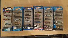 Hot Wheels Batman 5-Pack (Lot of 6 Sets - 2002, 2006, 2010, 2015, 2016 & 2017)