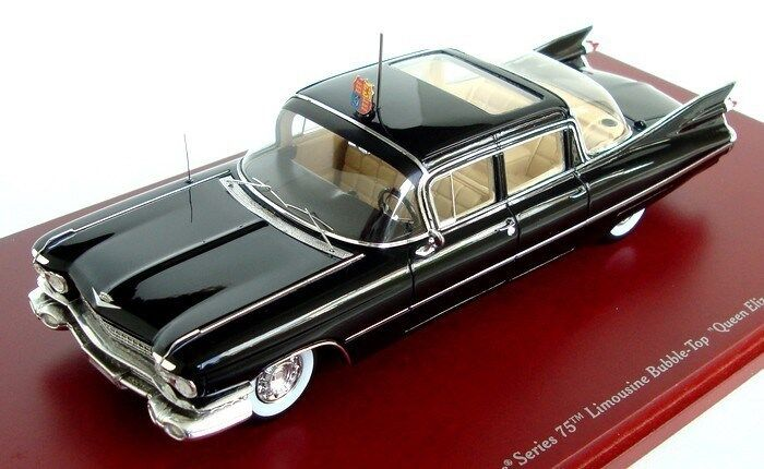 1959 Cadillac Serie 75 Limusina Bubble-Top Reina Isabel II In 1 43 By Tsm
