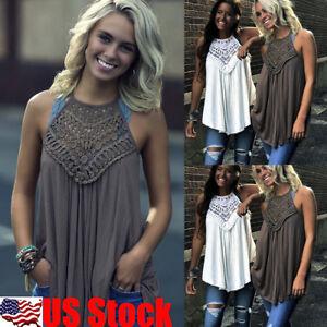 Womens-Summer-Sleeveless-Vest-Shirt-Lace-Crochet-Blouse-Casual-Tank-Tops-T-Shirt
