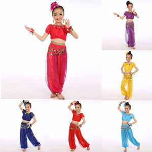 Children-Girl-Belly-Dance-Costumes-Kids-Chiffon-Sequins-Egypt-Dancing-Clothes-AB