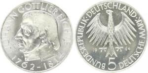 5 Mark Johann Gottlieb Fichte 1964 Commemorative Coin Almost Bu 20273