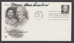 Mamie Doud Eisenhower, US First Lady, signed Dwight D. Eisenhower FDC