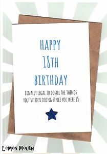 Image Is Loading 18th Birthday Greetings Card Friends Funny Humour