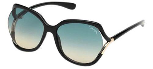 Tom Ford ANOUK-02 FT 0578 shiny black//green shaded Sunglasses 01W B