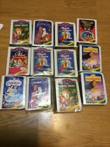 """McDonalds 1996 /""""VHS/"""" Disney/'s Masterpiece Collection Happy Meal Toy Set of 8 MIP"""