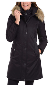 SALE! 1 Madison Expedition Women's Long Parka Cozy Black Jacket Sz Small