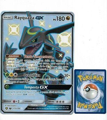 Pokemon RAYQUAZA GX JUMBO SHINY 177a OVERSIZED CARD FULL ART HOLO