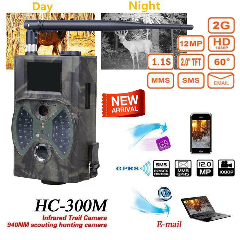 SunTek HC-300M 12MP GPRS MMS 1080P Wildlife IR Night Video Hunting Trail Camera
