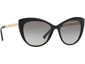 4c5975ef41 Details about NWT Versace Sunglasses VE 4348 GB1 11 Shiny Black  Gradient  Gray 57 mm GB111 NIB