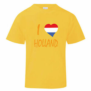 Holland Amsterdam Souvenir Maglietta T Lovelt;3 Bambina Shirt Bambino PkZuTXOi