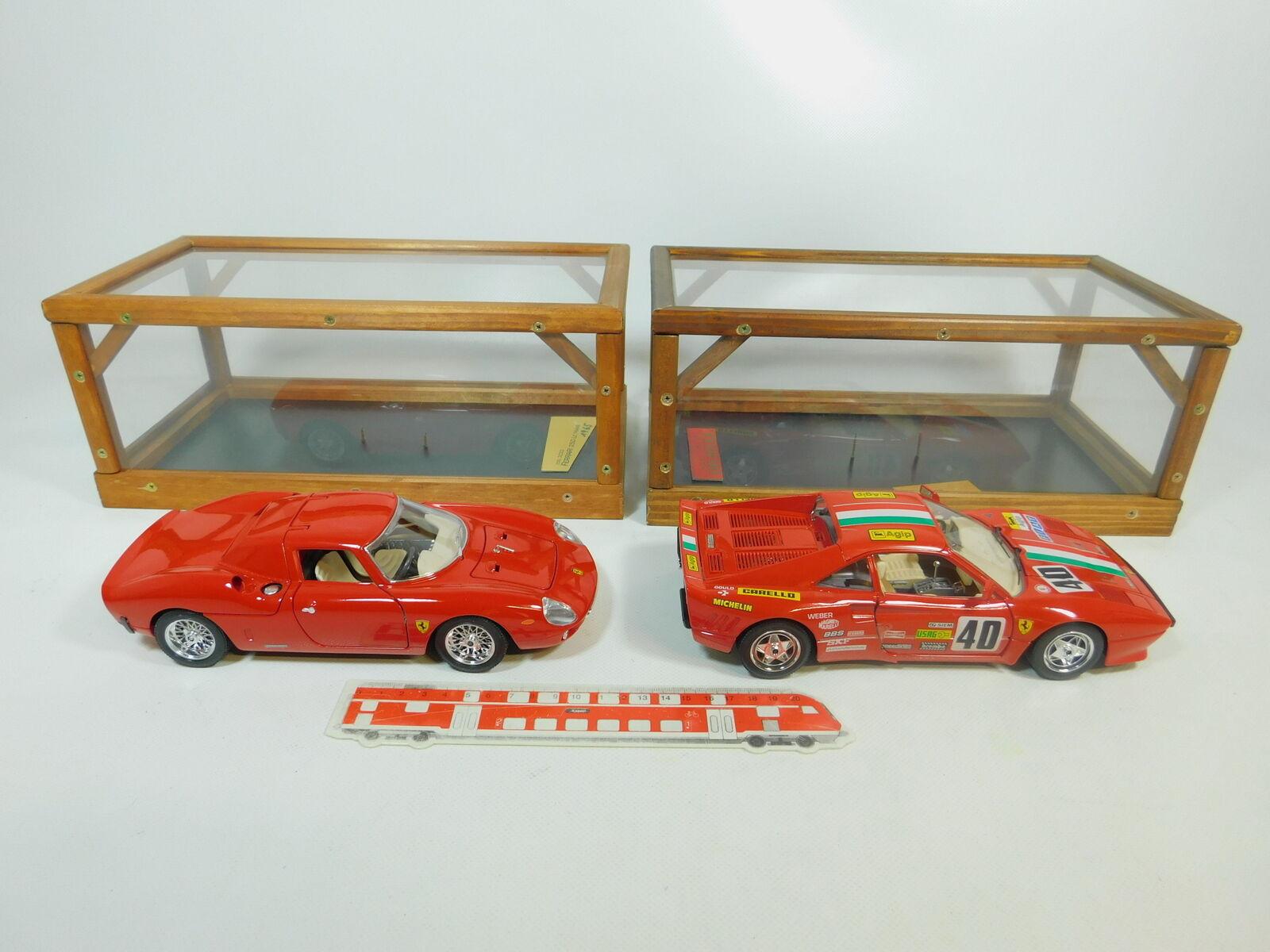 Bp496-6   2x Burago 1 18 Ferrari-Modèle  3033 250 le hommes +3027 GTO 1984, très bien  beaucoup de surprises