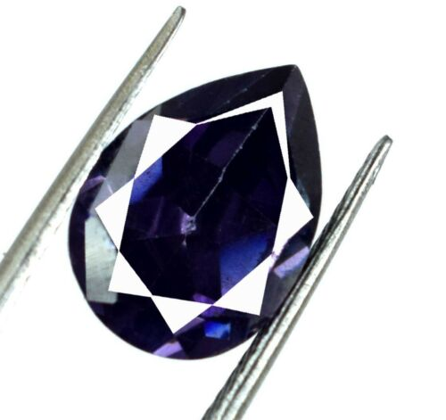 Pear Burma Purple Spinel Ring Size Gemstone 100/% Natural 7-9 Ct AGI Certified