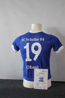 Schalke 04 Trikot, Chinedu Obasi Signiert, S04, 140 Gesundheit FöRdern Und Krankheiten Heilen