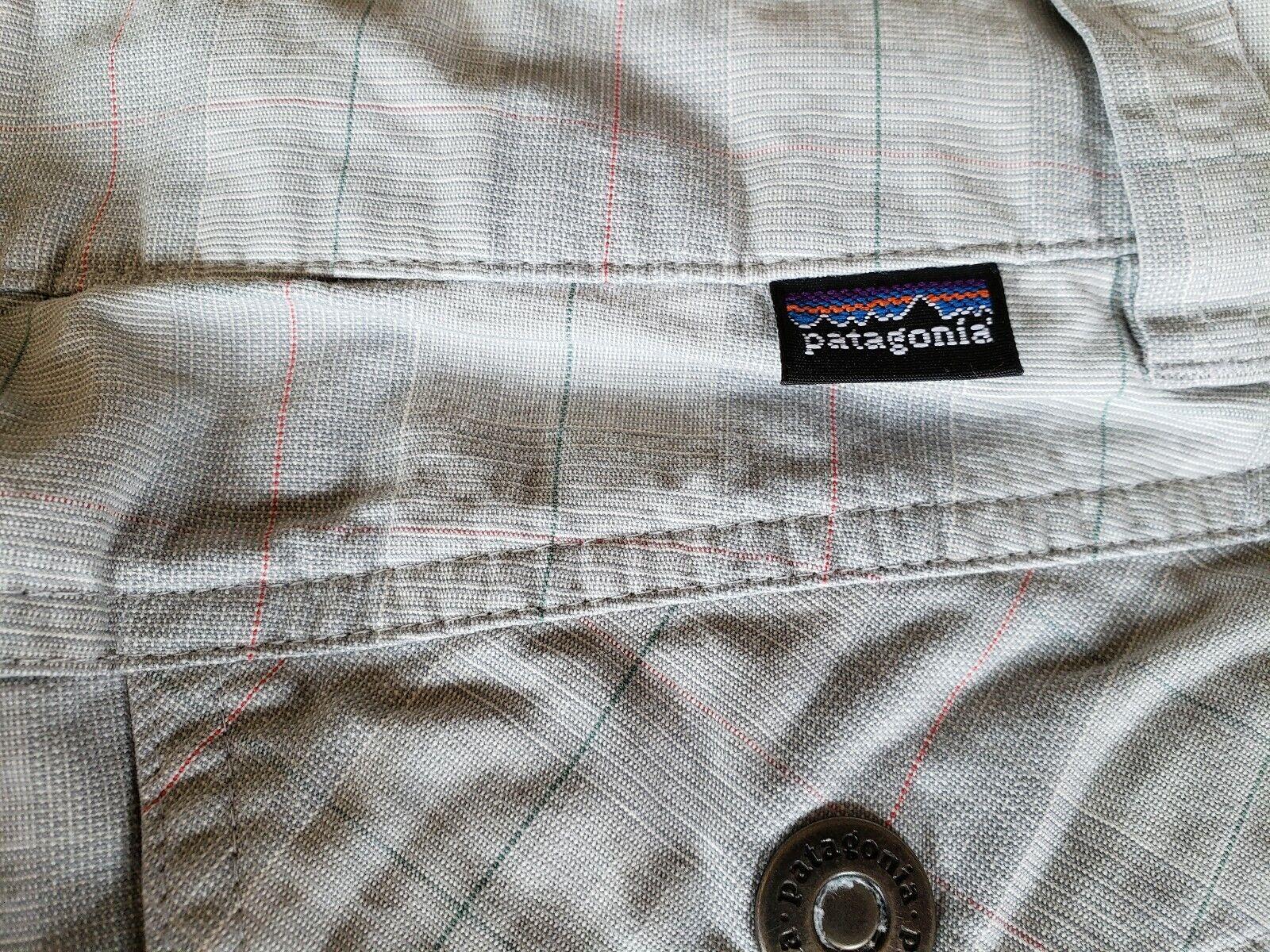 Patagonia ~ Women's Green Plaid Cropped Pants ~ S… - image 9
