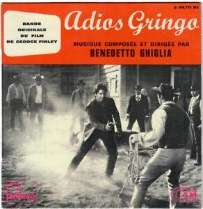 Dettagli su BENEDETTO GHIGLIA Adios Gringo 1965 RARE EP OST BO western  Spaghetti