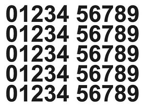 Vinyl-Number-Stickers-35mm-0-9-5-Sets-Self-Adhesive-Multiple-Colours-FREE-P-amp-P