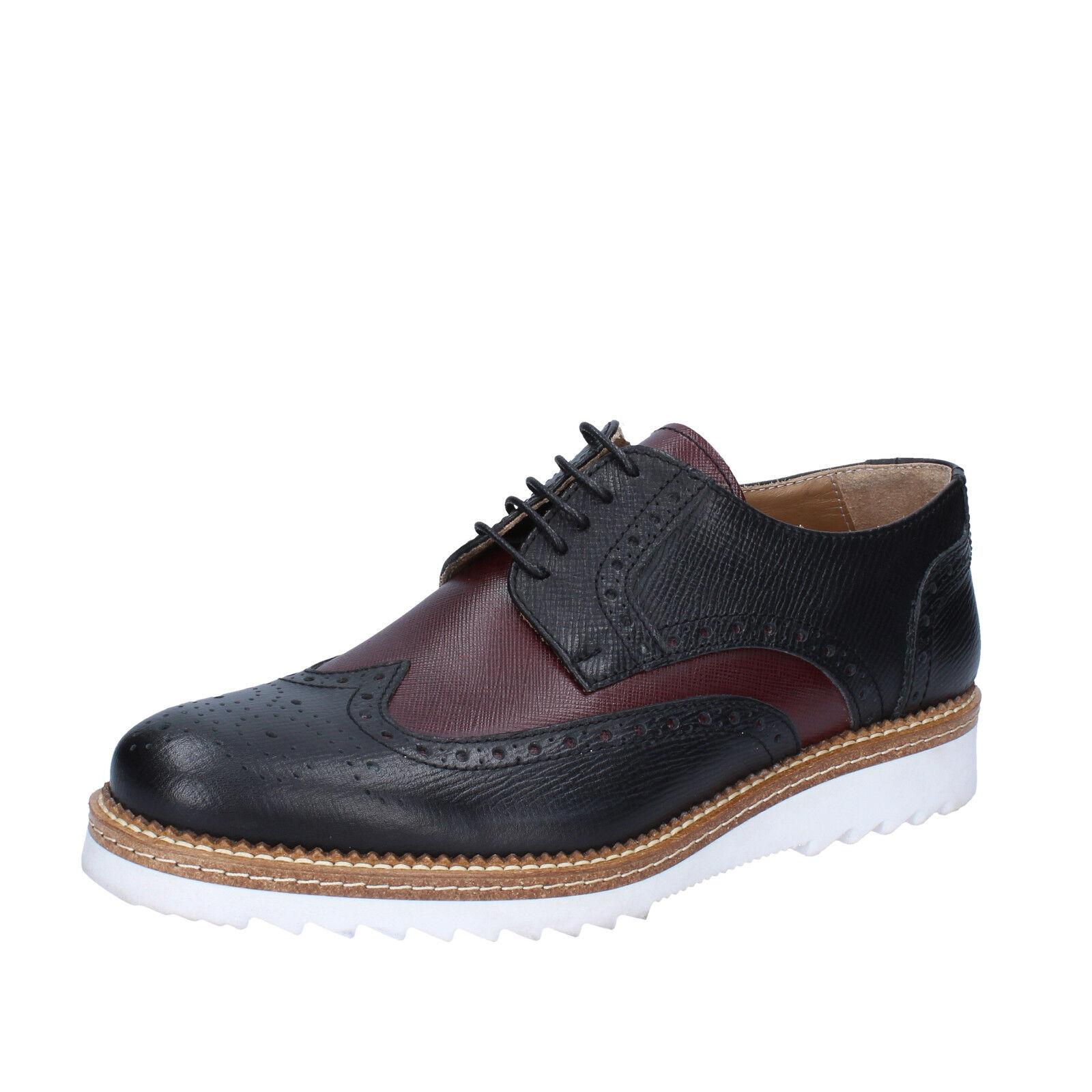 grande sconto Scarpe uomo FDF scarpe 41 EU classiche classiche classiche nero bordeaux pelle BZ369-C  spedizione veloce in tutto il mondo
