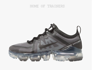 619a76f7fb Nike Air Vapormax 2019 Neutral Black Grey Girls Women's Trainers All ...