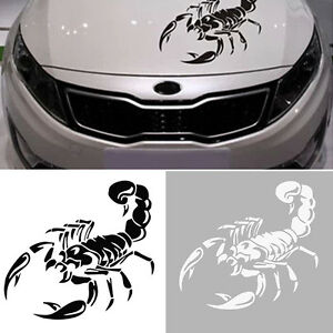 3d scorpion motorhaubenaufkleber autoaufkleber auto style aufkleber tattoo ebay. Black Bedroom Furniture Sets. Home Design Ideas