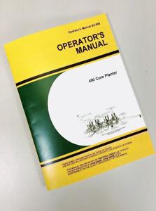 operators manual for john deere 490 four row planter owners corn rh ebay com John Deere Manuals Online Shop John Deere Manuals Online Shop