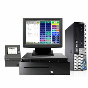 DELL TOUCHSCREEN POINT OF SALE SYSTEM - BAR RESTAURANT POS NEW - I3