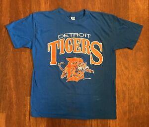 Detroit-Tigers-Vintage-T-Shirt-1988-80s-Artex-Adult-Large-Single-Stitch-Baseball