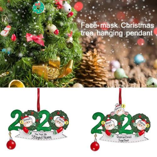 Christmas Santa Claus Mask Christmas Charm Family Personalized Decoration 2020