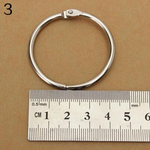 Eg /_10x Metal Schwenkbar Ringe Buch Ordner Fotoalbum Spaltung Scrapbook Werkzeug