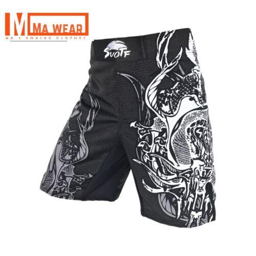 New White Dragon MMA Shorts Muay Thai Boxing Short Pants Fighting Kick Men Fight
