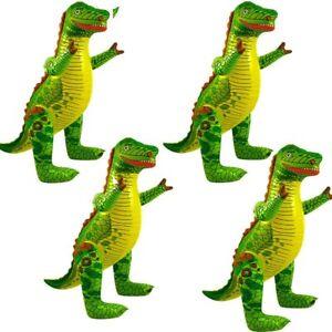 german trendseller® - 4 x aufblasbarer dinosaurier xxl | t-rex | 78 cm | kinder | ebay