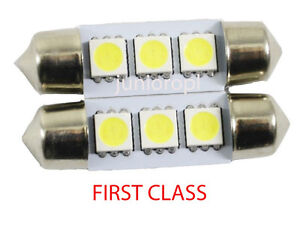 2X-31mm-3SMD-C5W-Festoon-CW5-12v-5050-Light-Bulb-Interior-Number-Plate-White-UK