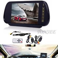 HD 7'' LCD Mirror Monitor+Wireless Night Car Reverse Rear View Backup Camera