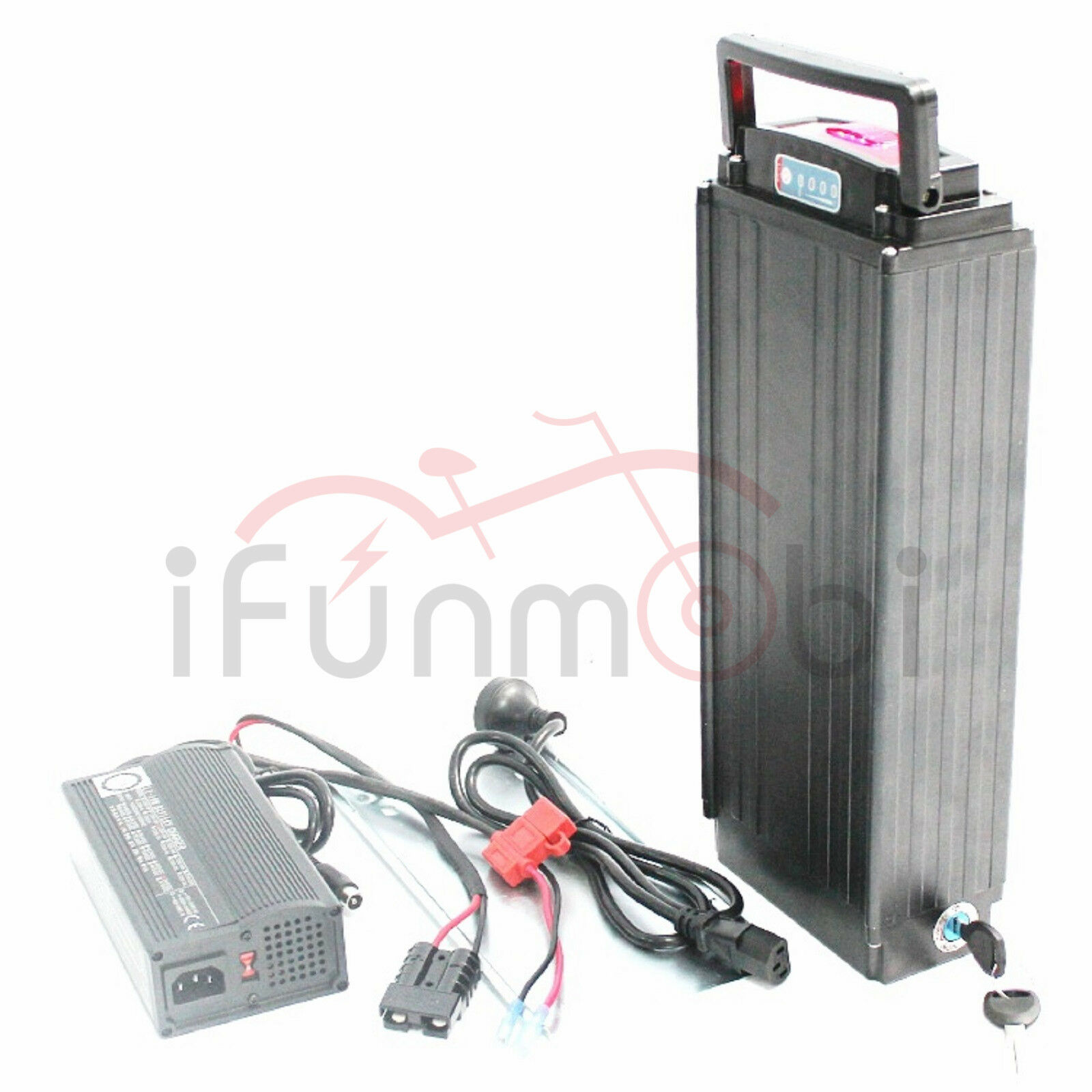 48V 10.5AH Rear Carrier Li-ion Battery Samsung INR18650-35E With BMS and Charger