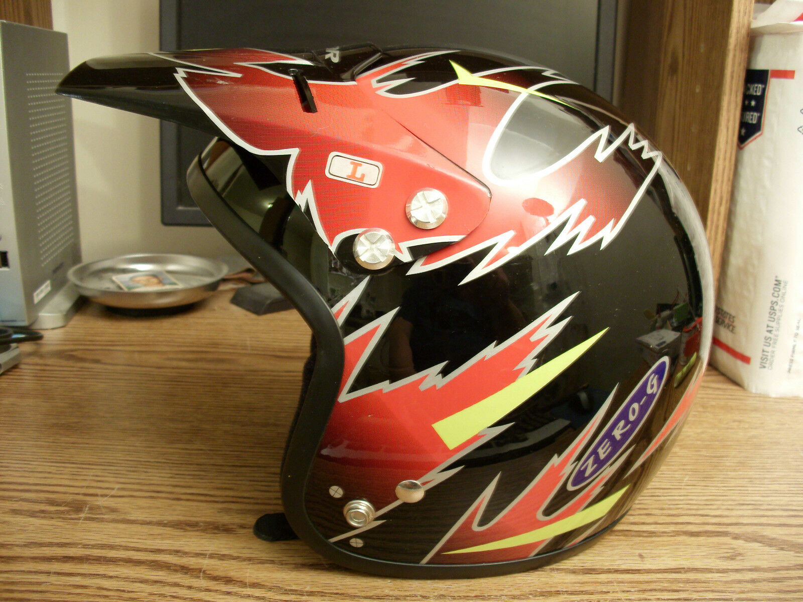 NOS Mid School Vigor Sports ZeroG Open Face Pro BMX Helmet...Snell N94...Bike