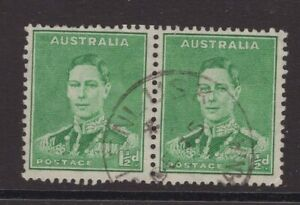 Tasmania-GLENLUSK-postmark-on-KGV1-pair