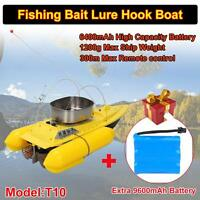 Upgraded T10 Fishing Bait Boat 300m Remote Control+9600mah Rechargeable Battery