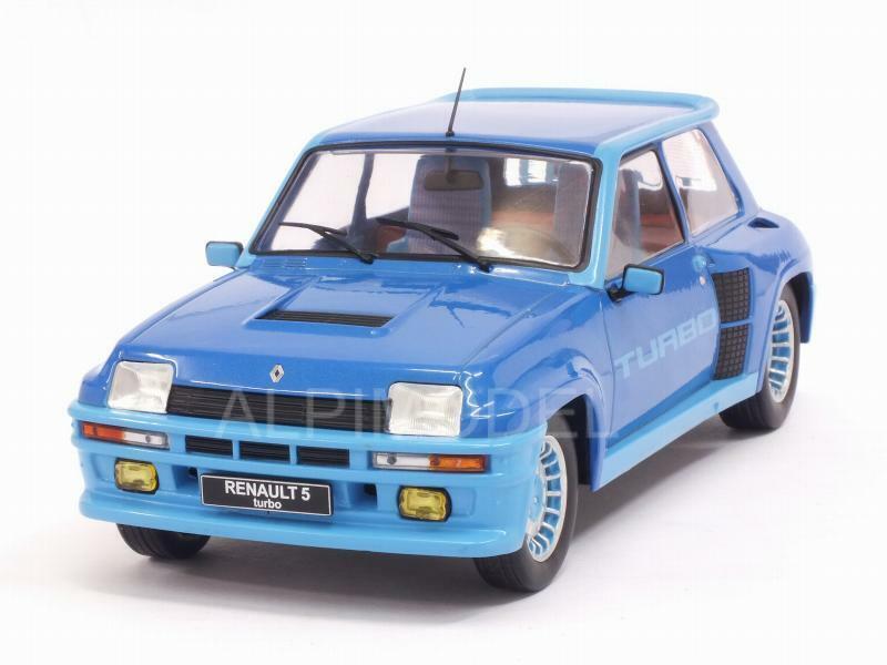 Renault 5 Turbo 1 1981 blu 1 18 IXO 18CMC005