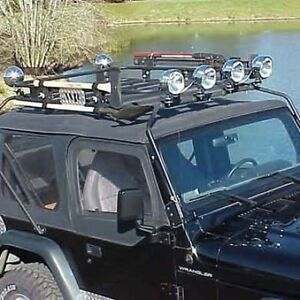 "warrior safari sport rack system 76-95 jeep cj7 wrangler yj 45""x55"
