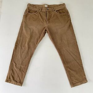 J-Crew-Mens-Size-36-X-26-Brown-Straight-Leg-Corduroy-5-Pocket-Pants-32Y