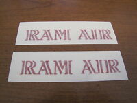 1969-70 Gto Ram Air Hood Decals, Red