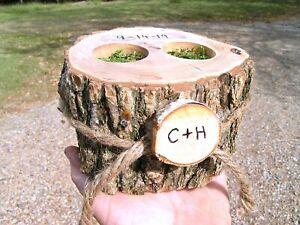 Personalized-Ring-bearer-box-Rustic-wedding-pillow-alternative