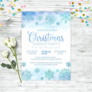 CHRISTMAS-INVITATION-PERSONALISED-FROZEN-SNOWFLAKE-PARTY-SUPPLIES-CUSTOM-INVITE