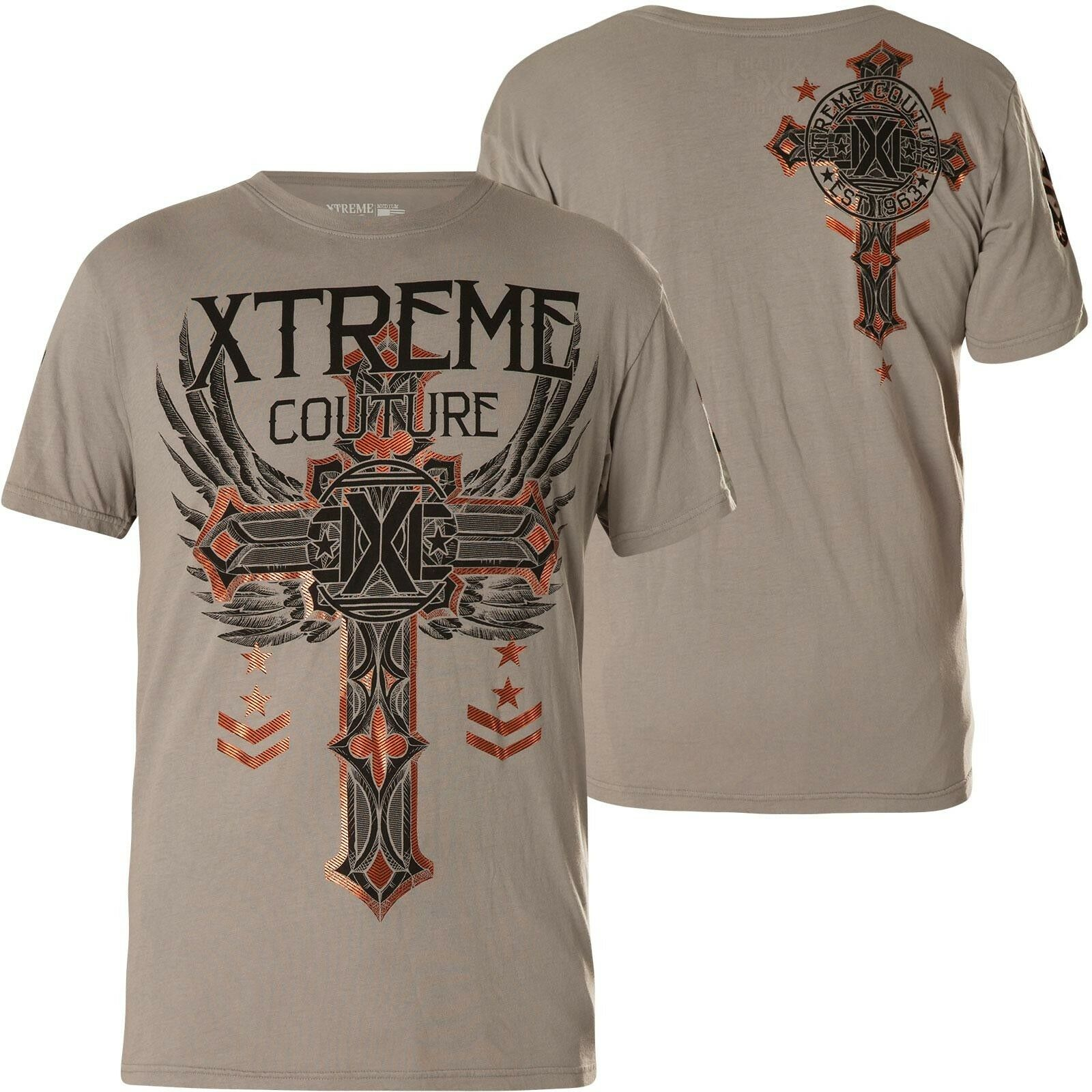 Xtreme Couture by Affliction T-Shirt Faith & Trust Grey