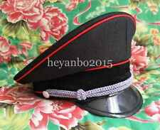 Military WWII WW2 German Elite Officer Hat Officer Cap Red Pipe 59Cm