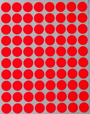 Neon Red Dot Stickers In Various Sizes 8mm 38mm Color Label In 15 Sheets