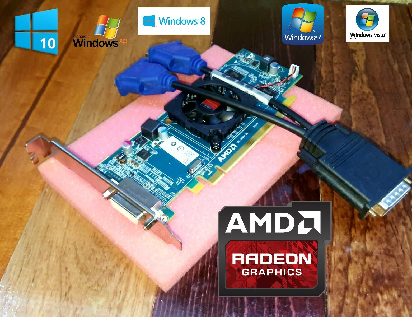 HP Pavilion Elite HPE-230F HPE-235F HPE-300Z Tower Dual VGA Monitor Video Card